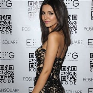 Victoria Justice Flaunts Her Booty In A Sheer Jumpsuit