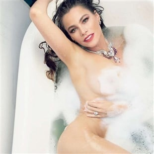 Sofia Vergara Soapy Nude For Vanity Fair
