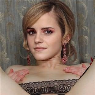Emma Watson Spread Naked In Fishnets