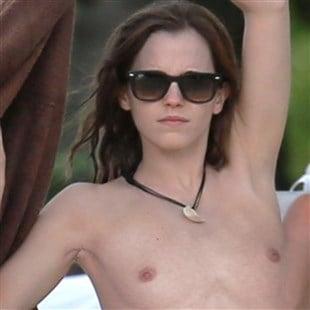 emma watson topless beach