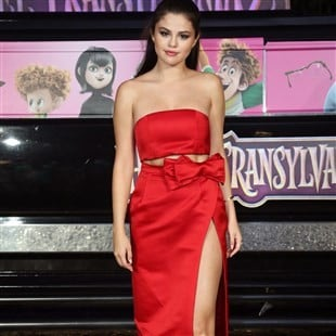 Selena Gomez Promotes Satanism In A Red Dress