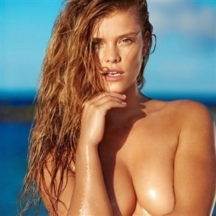 Nina Agdal In And Out Of A Thong Bikini