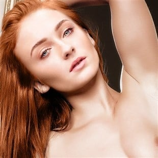 Sophie Turner Naked With Her Legs Spread Wide