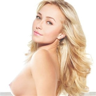 Hayden Panettiere Topless While Stripping Off Her Panties