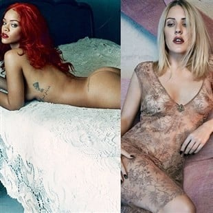 Rihanna Shows Her Ass & Ellie Goulding Shows Her Tits While Proclaiming They Are Not Whores