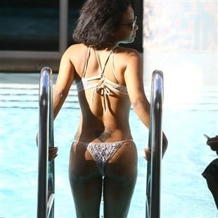 Christina Milian Terrorizes Miami Beach With Her Trashy Ass In A Thong Bikini