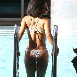 Christina Milian Terrorizes Miami Beach With Her Trashy Ass In A Thong Bikini