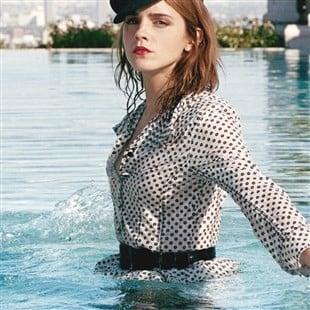 Emma Watson Wet Nipple In Porter Magazine