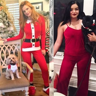 Bella Thorne And Ariel Winter In Their PJs On Xmas Morning