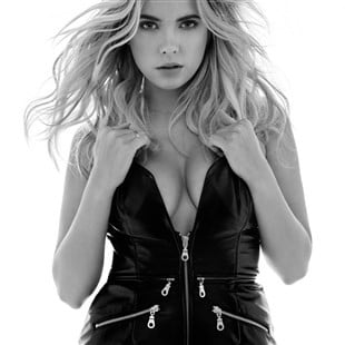 Ashley Benson Shows Off Her Big Boobs In Black Leather