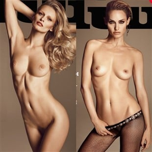 Various Models Nude On The Cover Of Lui Magazine