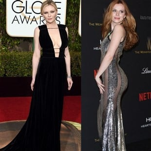 Kirsten Dunst's Boobs And Bella Thorne's Ass Standout At The Golden Globes
