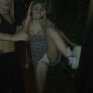 Lia Marie Johnson Drunken Upskirt Panties Flash
