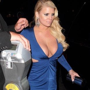 Jessica Simpson Takes Her Tig Ol' Bitties Out For A Night On The Town