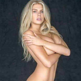 Charlotte McKinney Barely Covered Nude And Cross-Eyed Nips