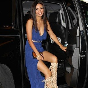 Victoria Justice Retardedly Hot In A Slutty Blue Dress