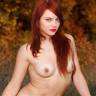 Emma Stone Poses Fully Nude In The Great Outdoors