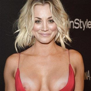 Kaley Cuoco Performs A Double Nipple Slip