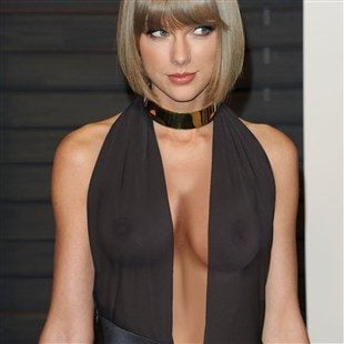 Taylor Swift Flaunts Her New Fake Tits In A See Thru Top