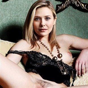 Elizabeth Olsen Nude With Her Legs Spread