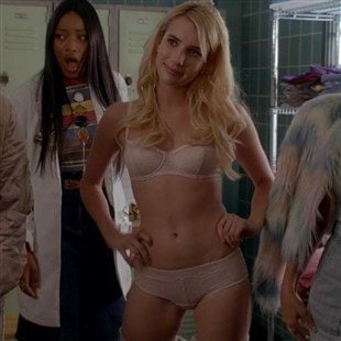 "Emma Roberts In Her Bra And Panties On ""Scream Queens"""
