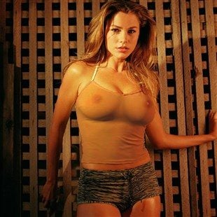 Young Sofia Vergara Showing Her Boobs In A See Thru Top