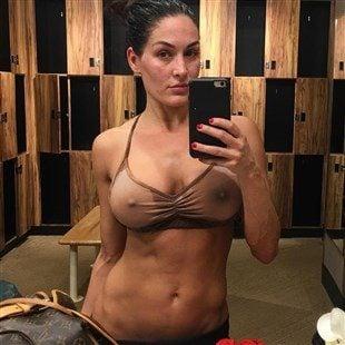 Nikki Bella Shows Off Her Boobs In A See Thru Bra