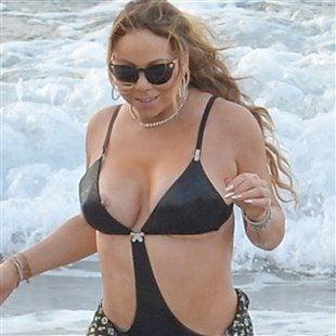 Mariah Carey Nip Slip In A Swimsuit At The Beach