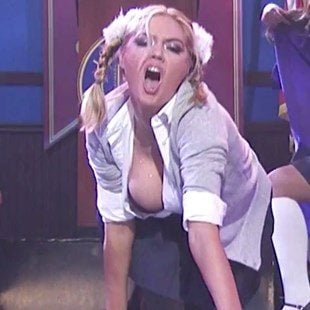 "Kate Upton Deep Tit Cleavage On ""Lip Sync Battle"""