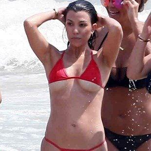 Kourtney Kardashian Destroys Kim In A Thong Bikini Booty Battle