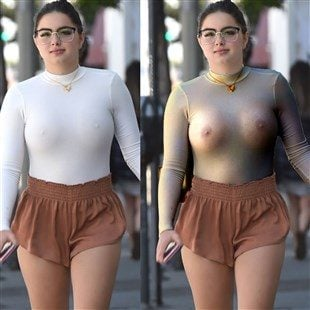 Ariel Winter Nips And Ass Cheeks Out For A Stroll