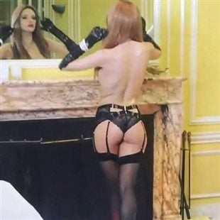 Bella Thorne Topless In A Lingerie Thong