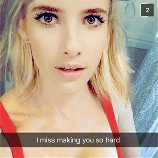 Emma Roberts Topless Snapchat Selfie