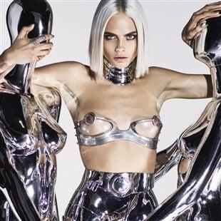 Cara Delevingne's Futuristic Nipples In GQ