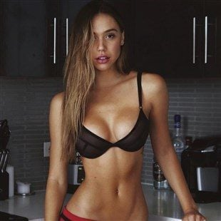 Alexis Ren Dancing In A See Through Bra