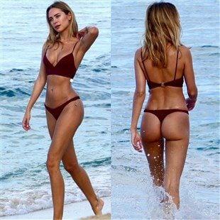Kimberley Garner Flaunts Her Ass In A Thong Bikini Again