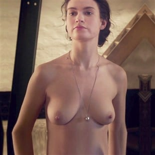 lily james topless