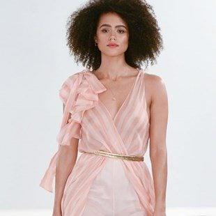 Nathalie Emmanuel Shows Her Nipples For Fashion