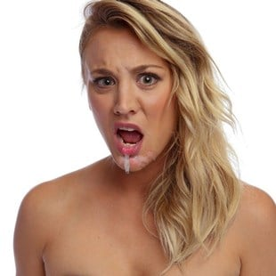 exposes Kaley breast cuoco her
