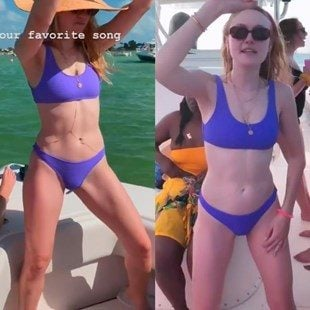Dakota Fanning Dancing In A Bikini