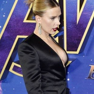 "Scarlett Johansson Using Her Tits To Promote ""Avengers: Endgame"""