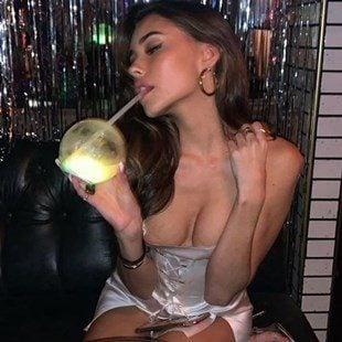 Madison Beer Nip Slip In A Short Dress