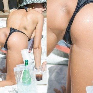 Emily Ratajkowski's Butthole In A Swimsuit
